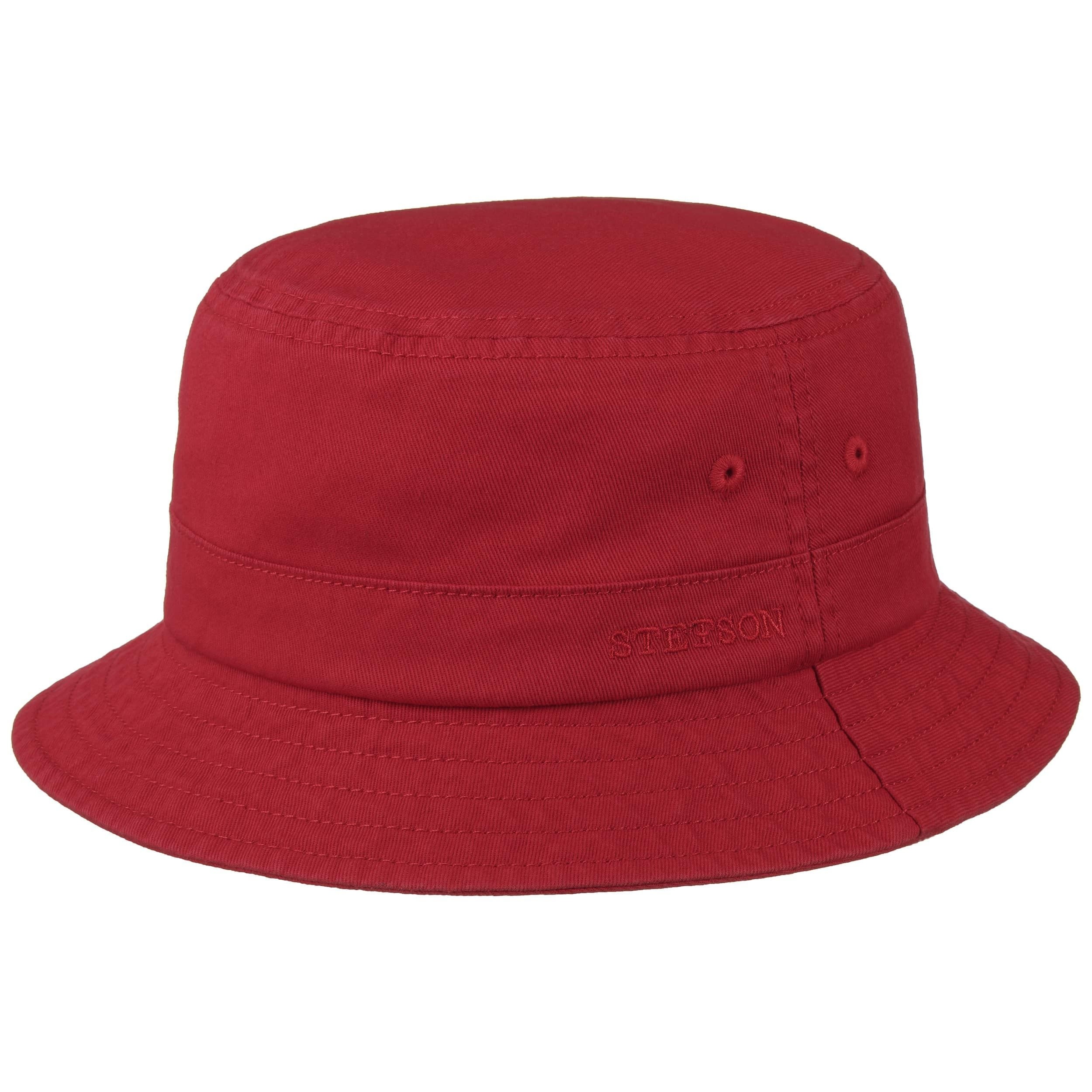 Organic Cotton Hat with UV Protection red