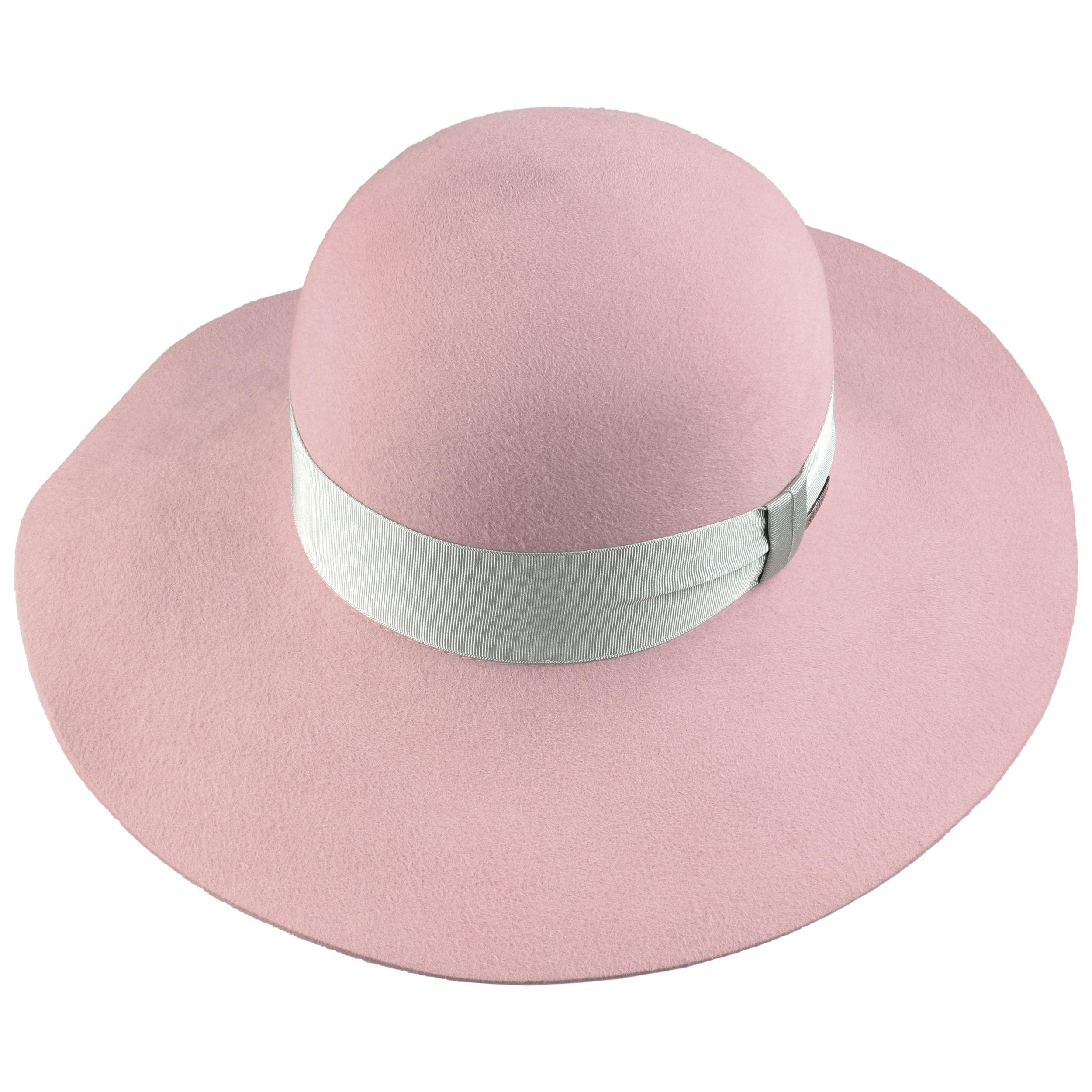 Jasemina Fur Felt Floppy Hat rose