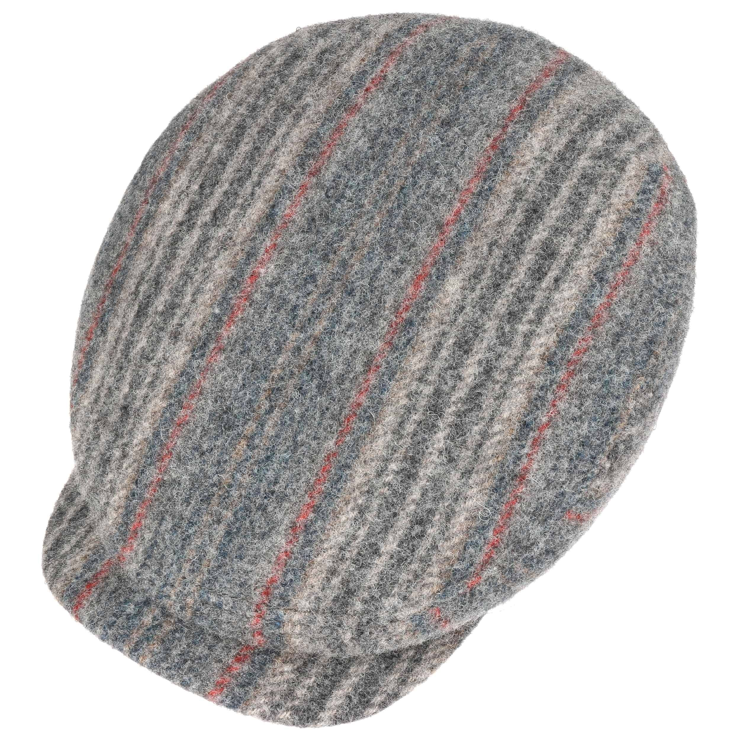 Neligh Woolrich Stripes Flat Cap grey
