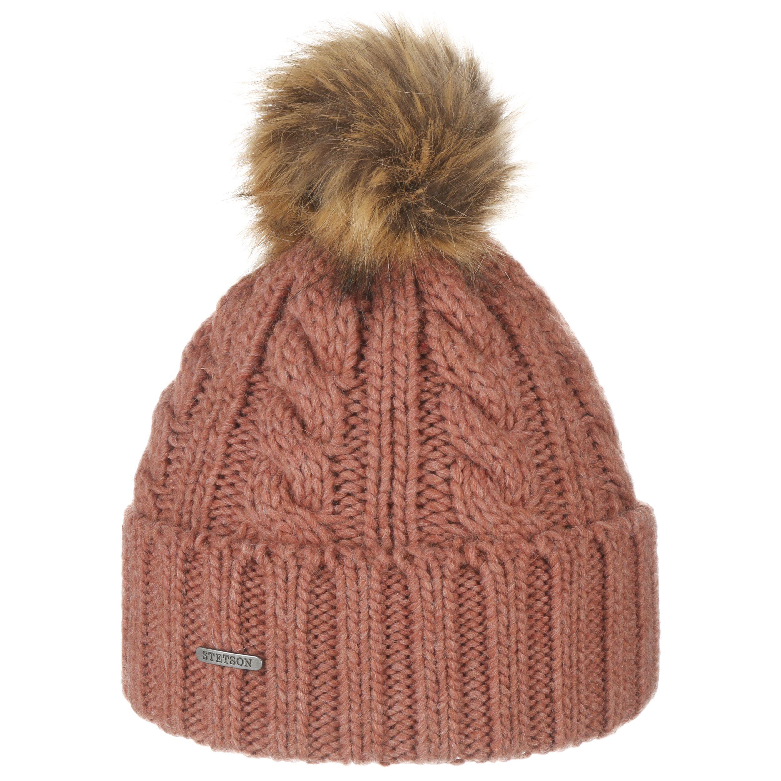 Lavona Pompom Hat rust