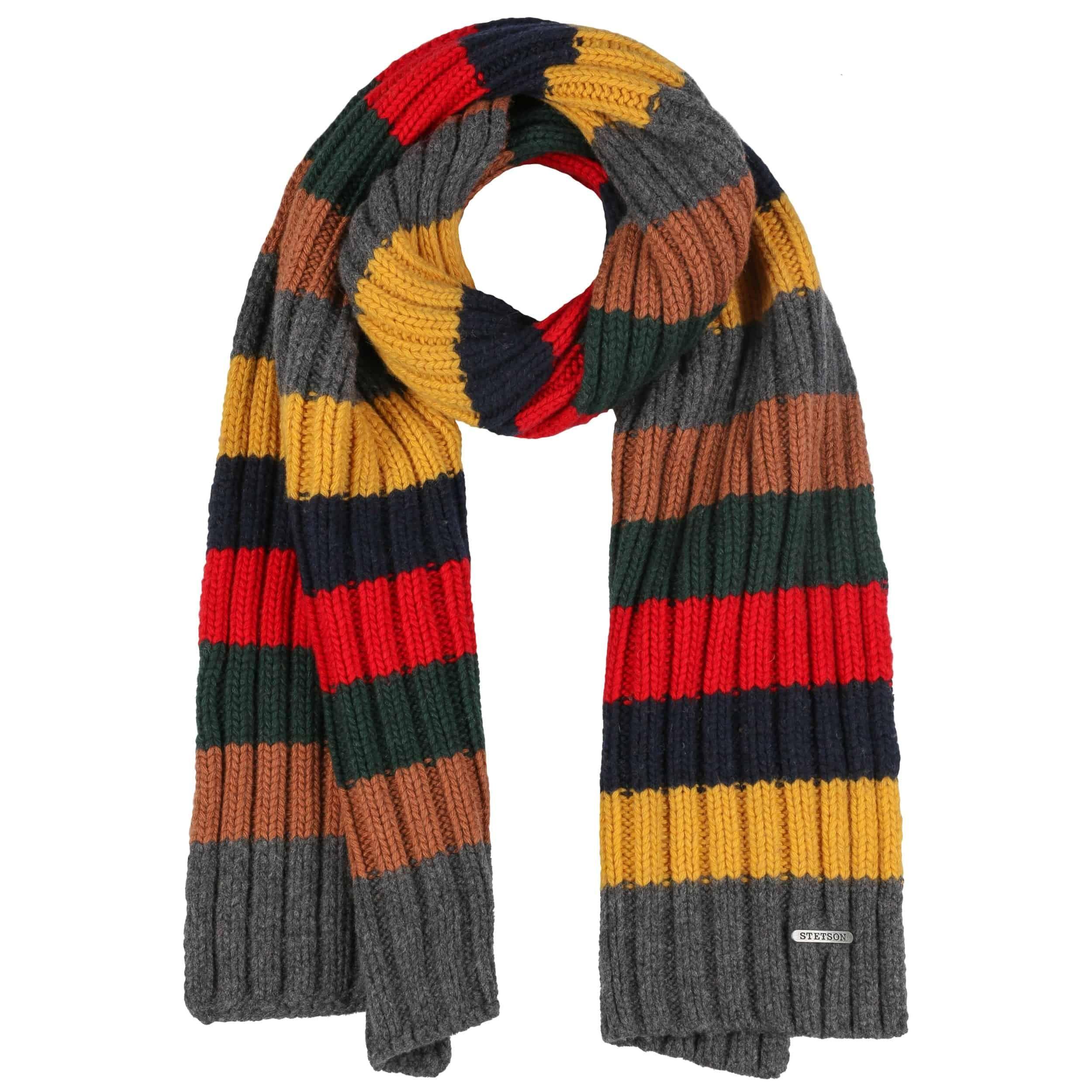 Stripes Schal mit Kaschmir bunt