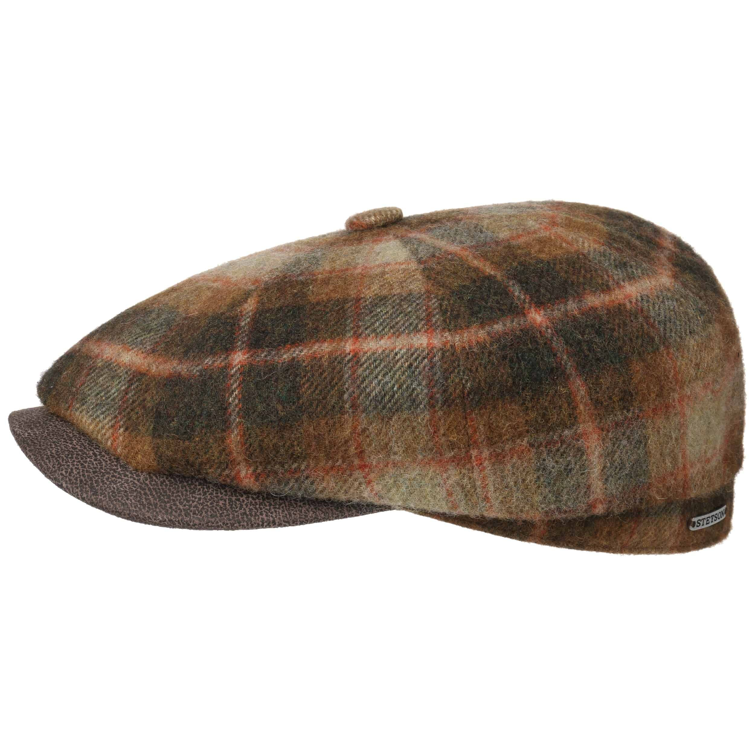 Hatteras Lambswool Check Flatcap rost