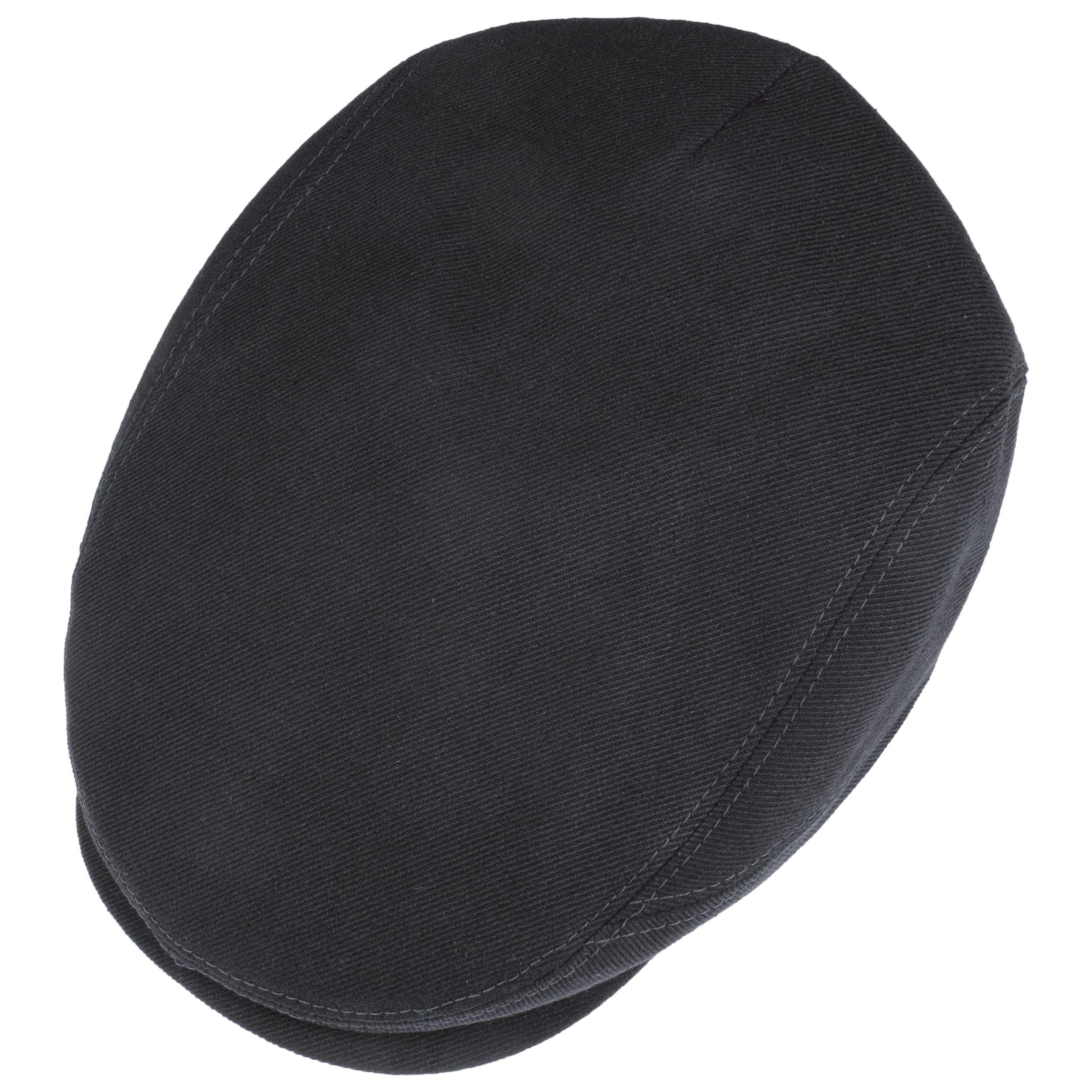 Selvedge Flatcap schwarz
