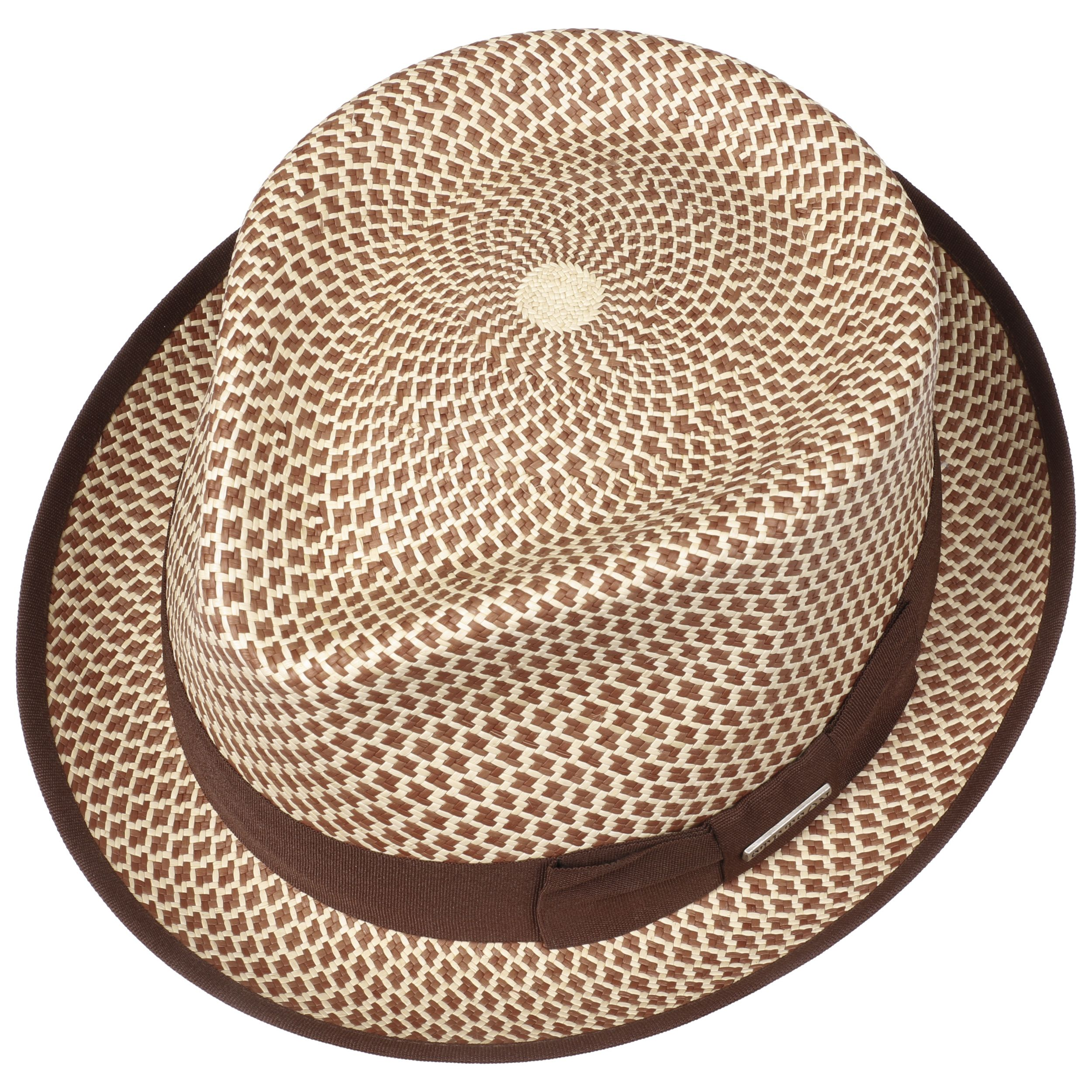 Chapeau Panama Portico Fedora nature-marron