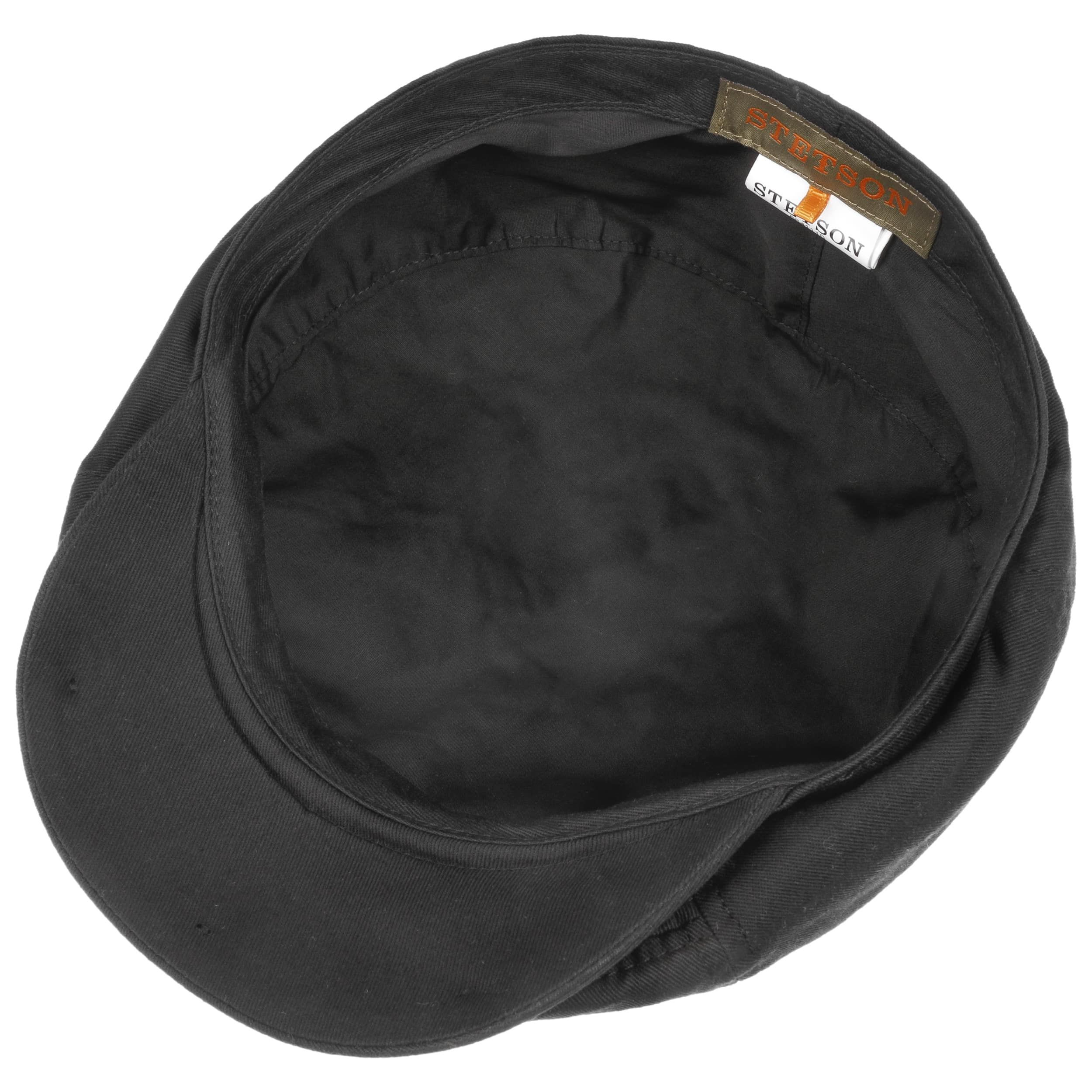 Cotton Twill Flat Cap black