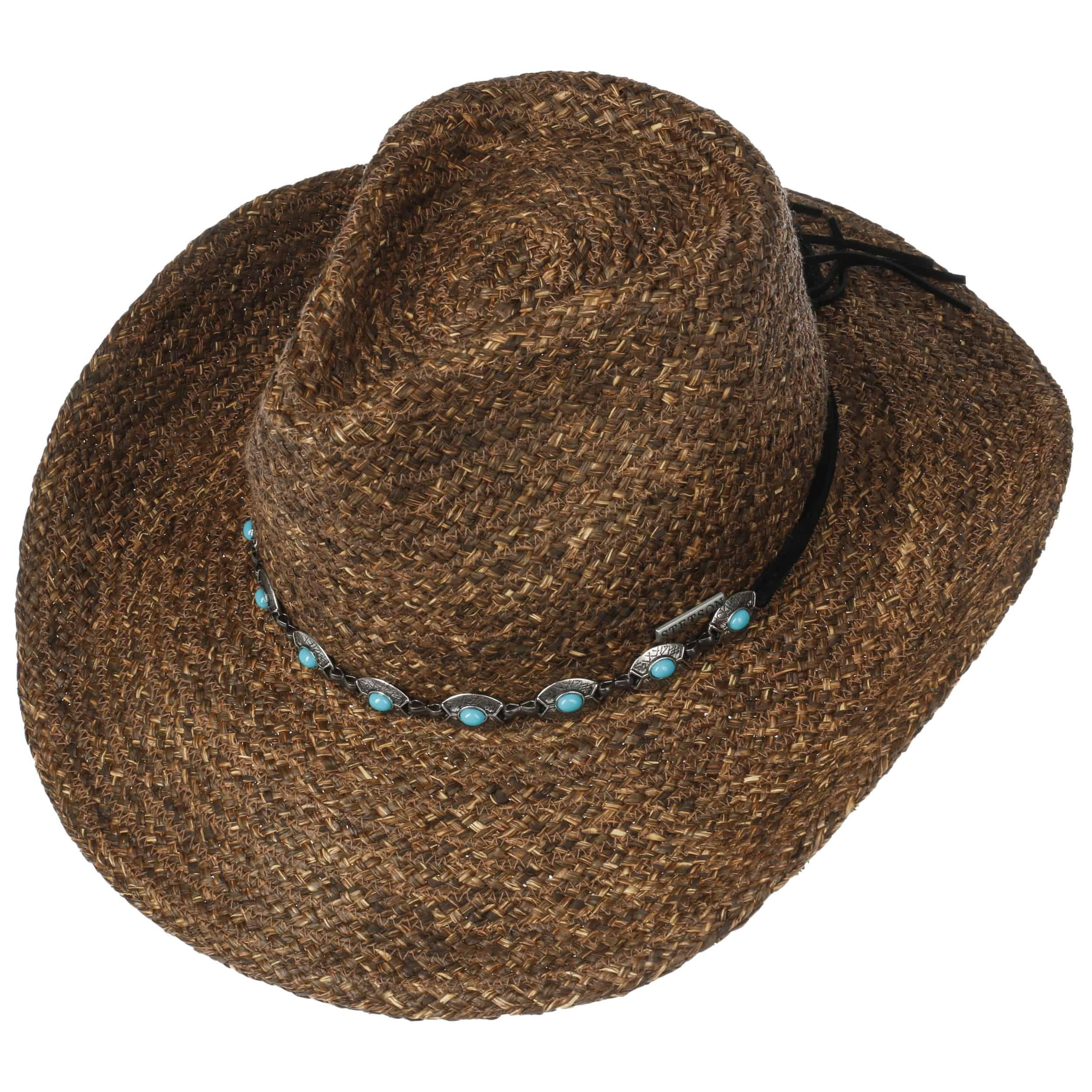 Kaluja Western Raffia Hat dark brown