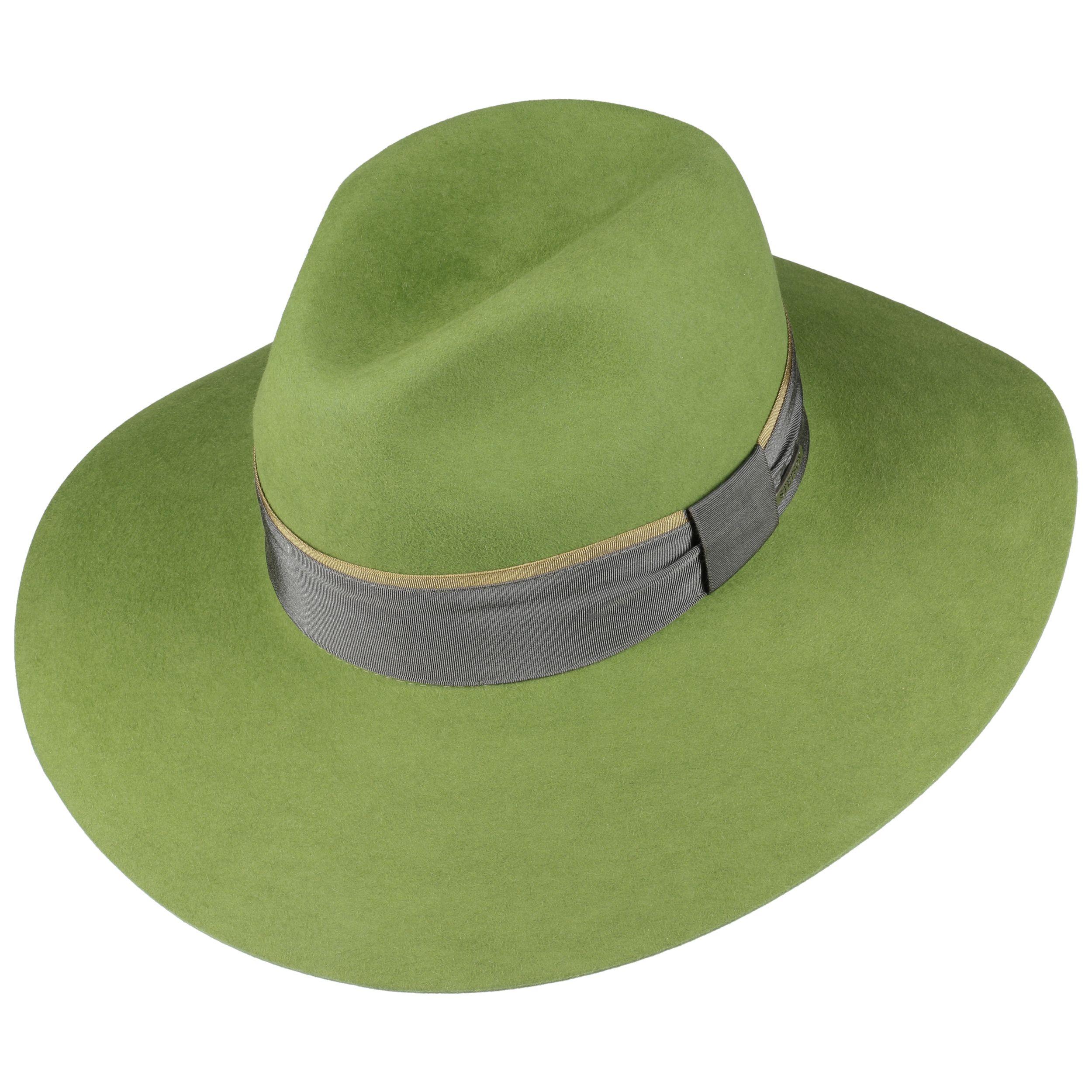 Mavola Fur Felt Floppy Hat green