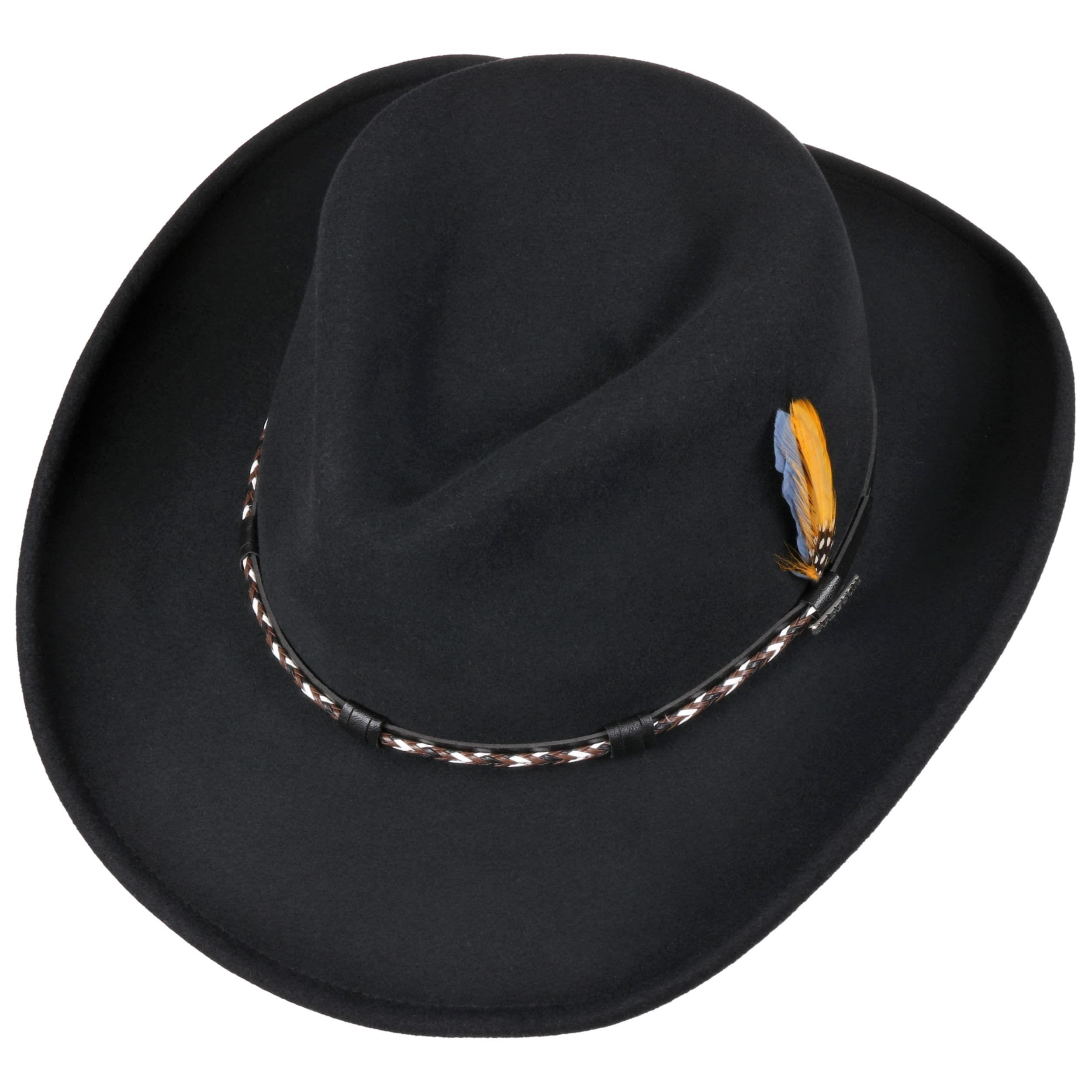 Amasa VitaFelt Western Hat black
