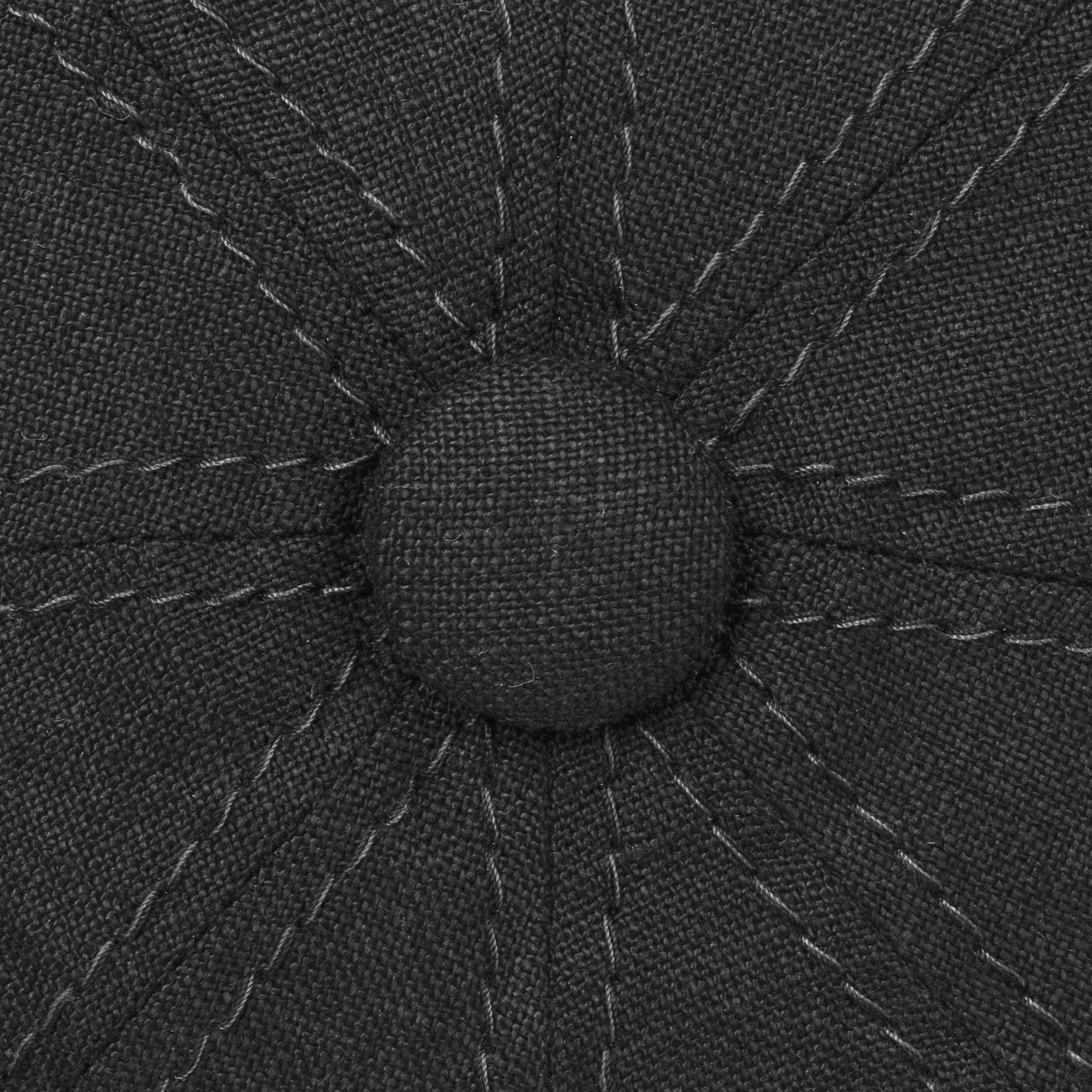 Hatteras Leinen Ballonmütze schwarz