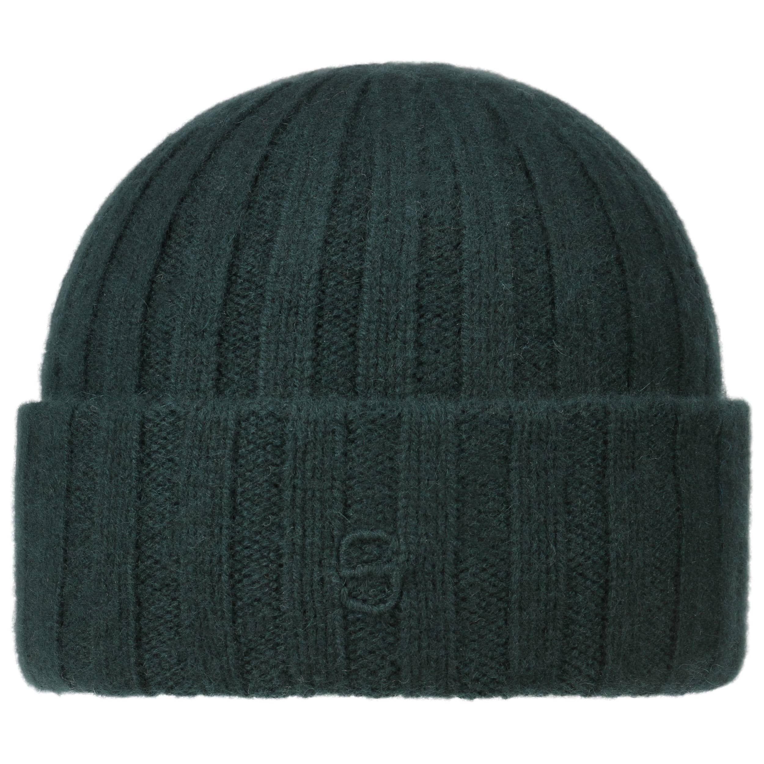 Surth Cashmere Knit Hat dark green